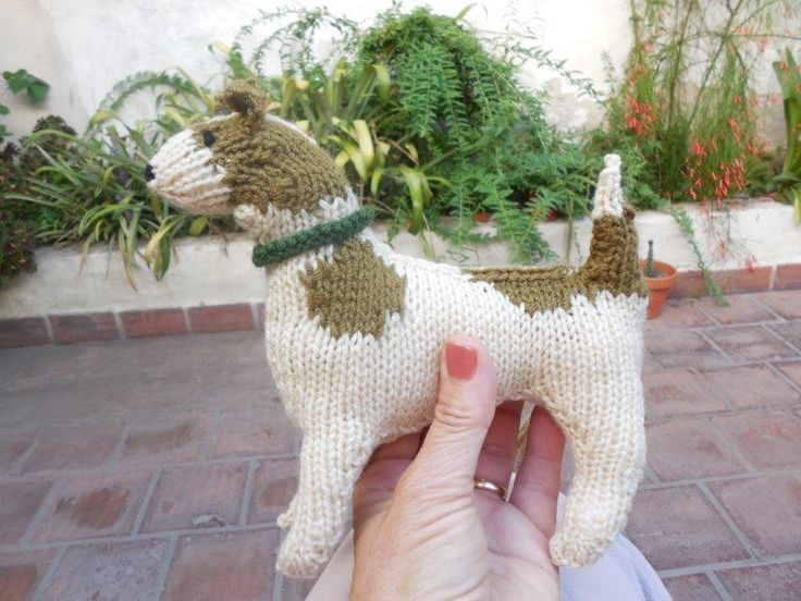 Adriana's Jack Russell. Knitting pattern by the Best in Show Series