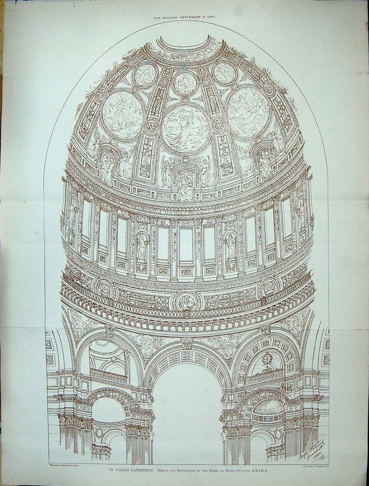 1884 St. Paul'S Cathedral Design Architecture Dome