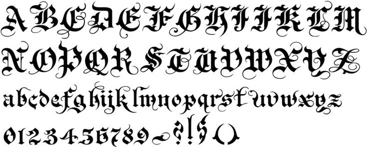 England s old english font from callifonts