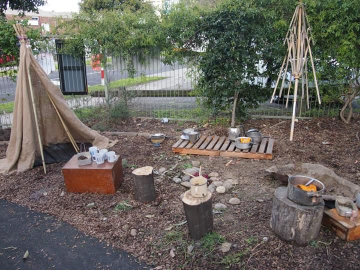 """Love this outdoor play-space - image shared by The Learning Caravan ("""",)"""