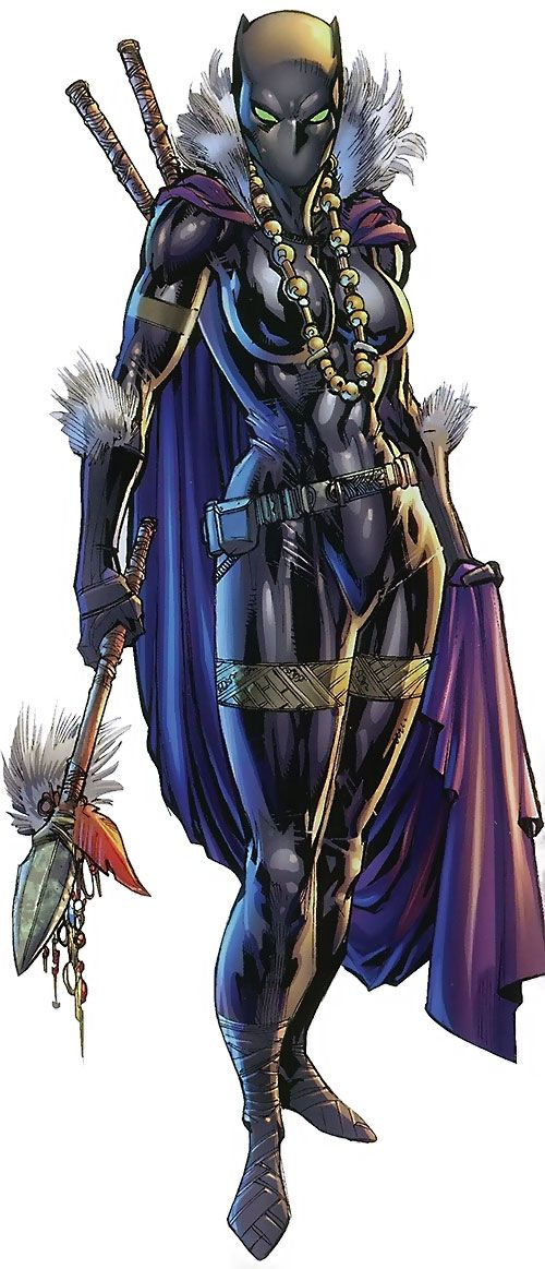 A full character profile for Marvel Comics' Black Panther (Shuri) - the sister of the original Black Panther. Images, biography, abilities, personality...