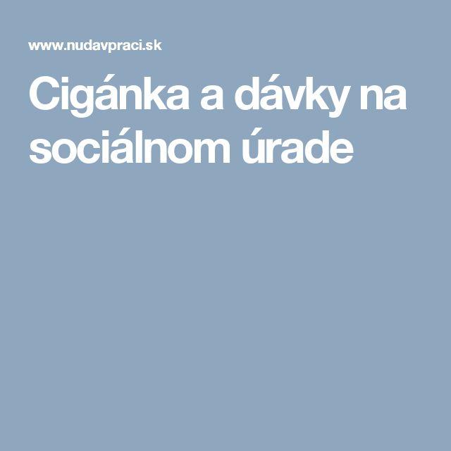 Cigánka a dávky na sociálnom úrade