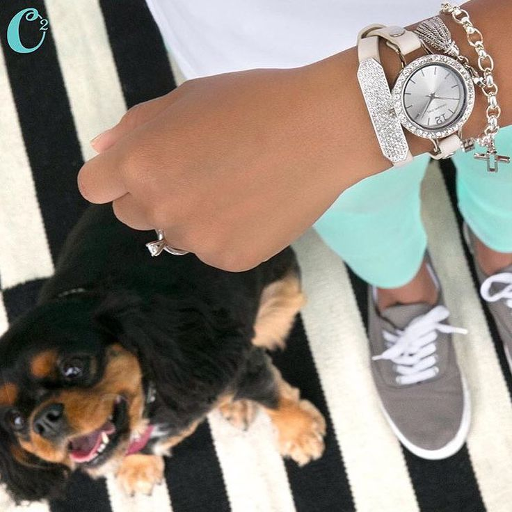 A little #weekend #armcandy :) Cream leather wrap bracelet, silver pave crystal slider and Origami Owl new watch with a large size locket face added to it.. Choose wrap, watch base and locket face for your #watch look! https://juliamartinez.origamiowl.com