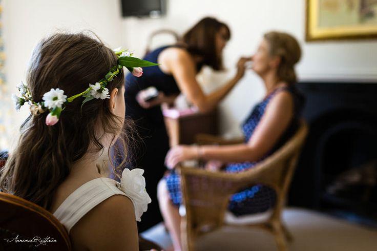 Flower girl with flower wreath  #wedding #londonwedding