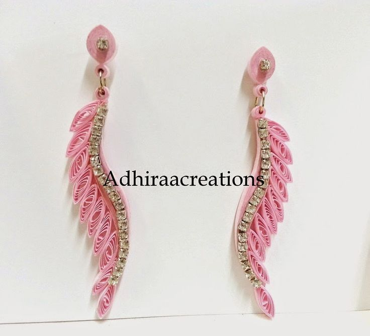 Adhiraacreations: Quilled earring