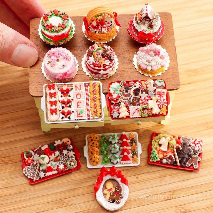 "6 Miniature dollhouse Christmas Paper plates  Barbie 1//12 /"" 1/"" Santa Red"