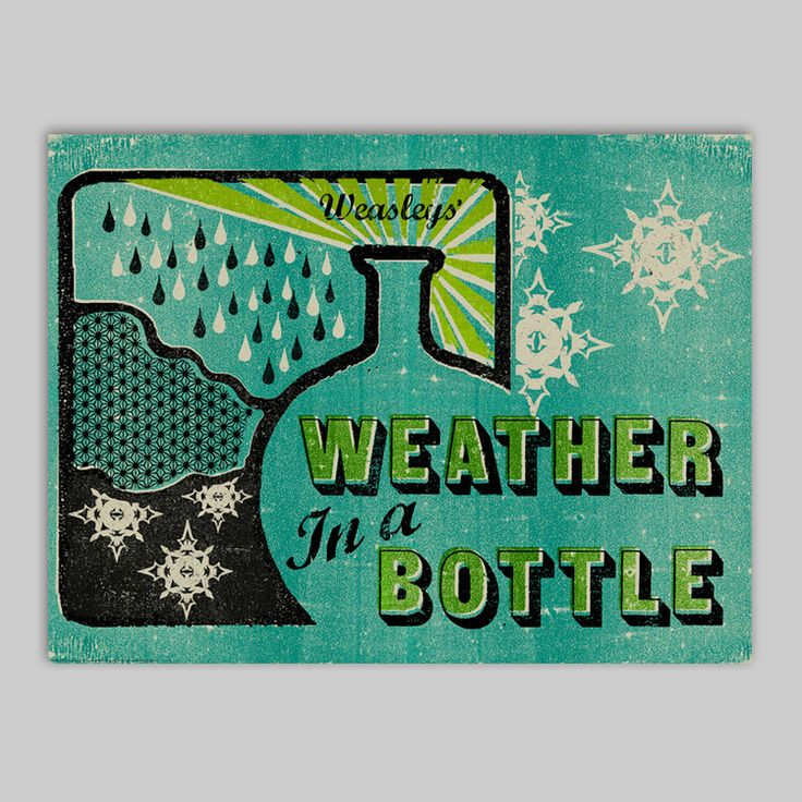 Weather In A Bottle - Poster - MinaLima Store