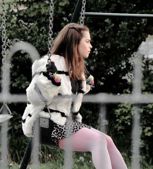 Emilia Clarke filming Me Before You in Pembroke