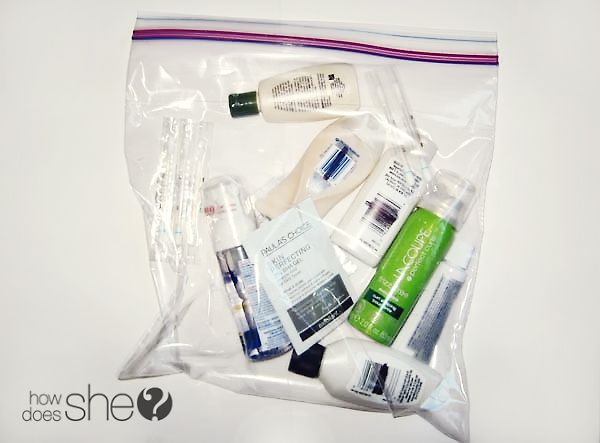 how to pack toiletries in hand luggage