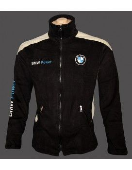 BMW Black & White Fleece Jacket with Embroidered logos from http://autofanstore.com