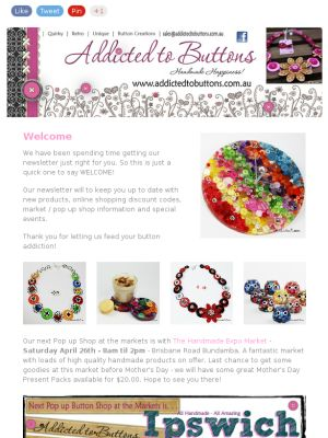 Addicted to Buttons Newsletter - April 21st 2014