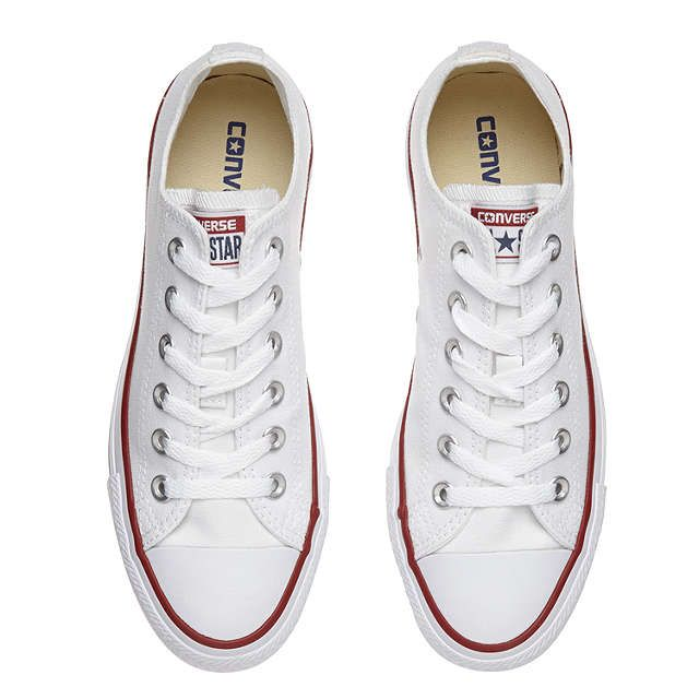 Converse Chuck Taylor All Star Canvas Ox Low-Top Trainers, White. Leather  TrainersAdidas SuperstarWhite ...