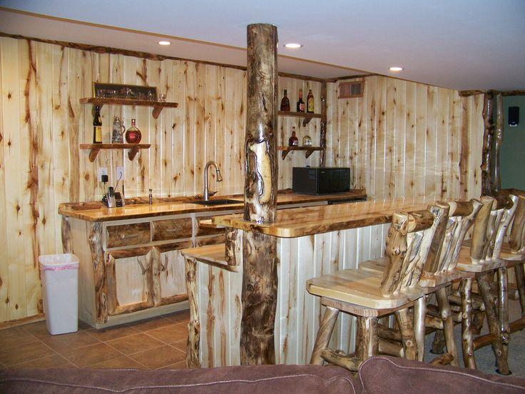 Rustic Man Cave Furniture : Best basement bar ideas images on pinterest home