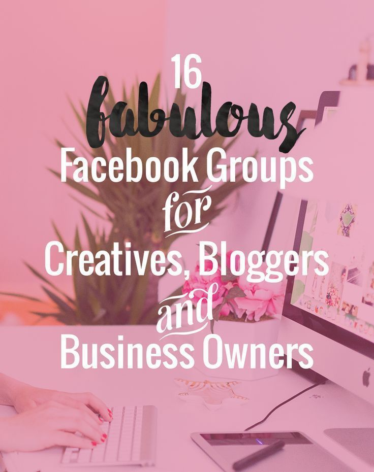 Go join these! They're great. Facebook groups for bloggers and online business owners.