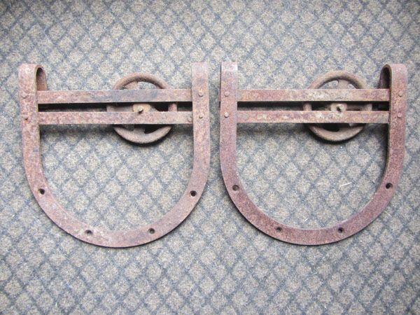 Vintage Horseshoe Style Barn Door Rollers