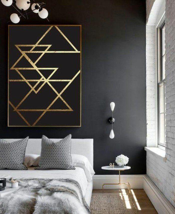 Les 25 meilleures id es concernant chambre grise sur pinterest chambres gri - Decorer grand mur blanc ...