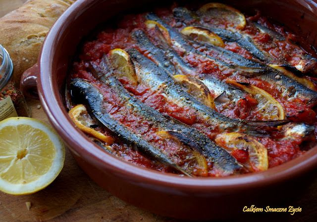Baked herrings