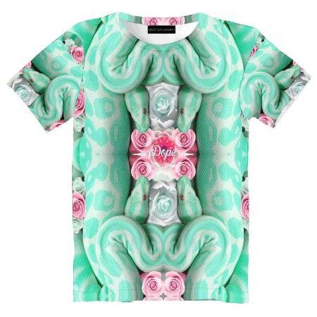 Dope Snake T-shirt #tshirt #streetwear #streetfashion #streetstyle #brzozowskafashion #mint #brzozowska #fashion #print #3d #3dprint #fullprint #snake #pastel #waz #motyw #weza #modauliczna #polskistreetwear #koszulka #nadruki #nadruk #autorski #projekt #pastelowa #mietowa