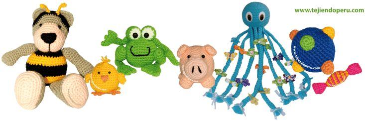 Todo sobre esta linda técnica japonesa para tejer a crochet animalitos u objetos pequeños!!! Se rellenan con algodón sintético o napa siliconada. Tutoriales completos de la técnica y de diseños propios de tejiendoperu!!!