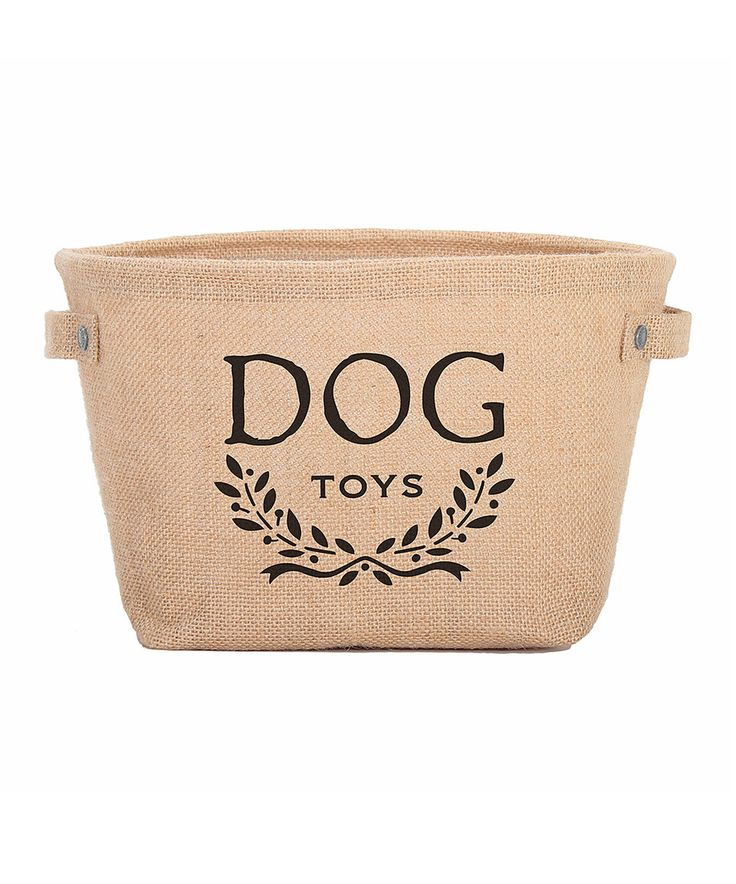 Another great find on #zulily! Black Hemp 'Dog Toy' Bin by Harry Barker #zulilyfinds