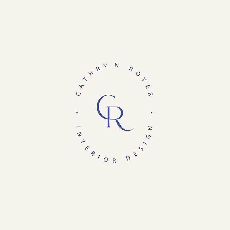 Cr Monogram Logo New Branding For An Interior Design Company In Vancouver By Honor Creative Circular Logo Design Interior Designer Logo Monogram Logo