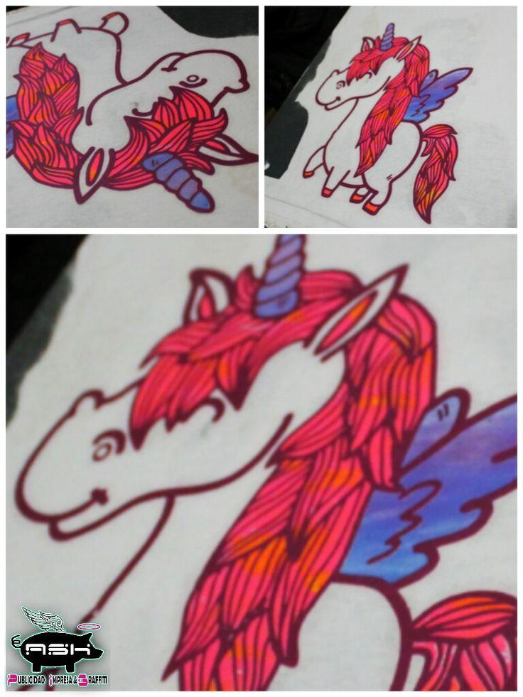 #serigrafia #playeras # unicornio  #alicornio #impresion