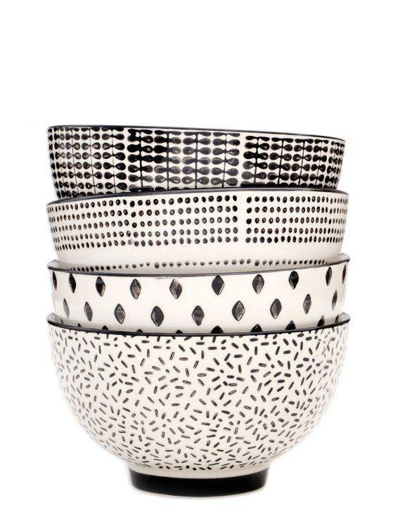 Monochrome Ceramic Bowl Set                                                                                                                                                                                 More