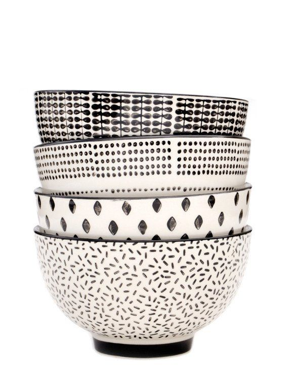 Monochrome Ceramic Bowl Set                                                                                                                                                                                 More