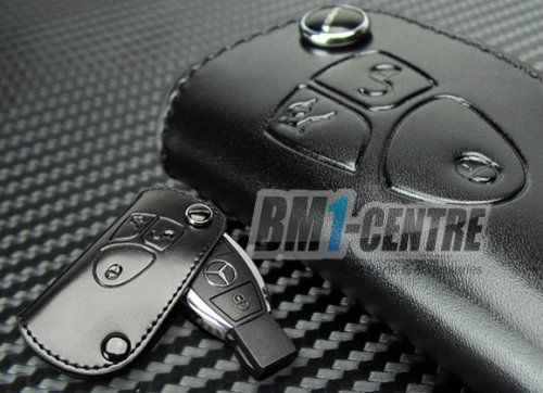 Amg leather key fob holder for mercedes benz c e s cl sl for Mercedes benz key holder