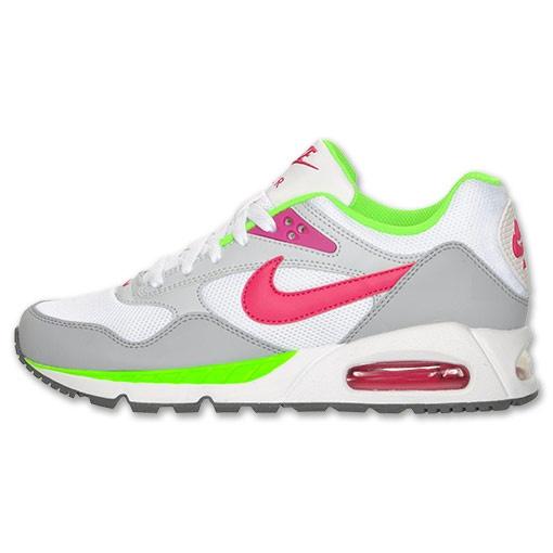 best service dd207 85b0b womens nike air max correlate running shoes white pink green