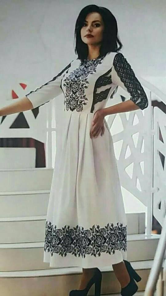 монохромна вишивка Хіджаб Мода b0a670931a378