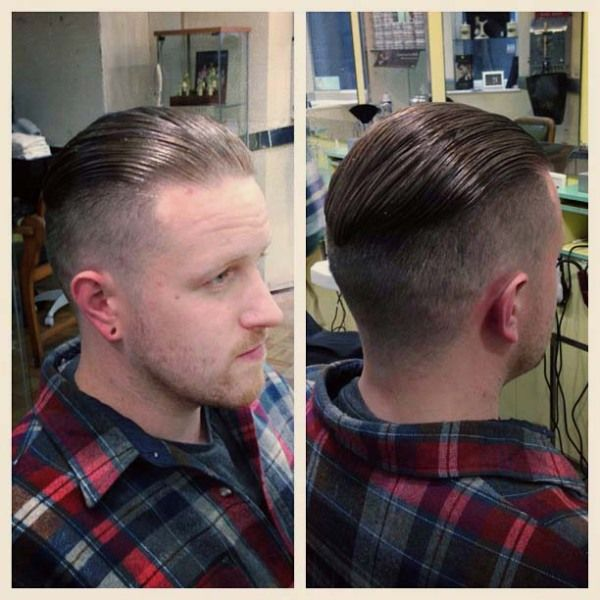 fade hairstyle back pomade barbershops pinterest