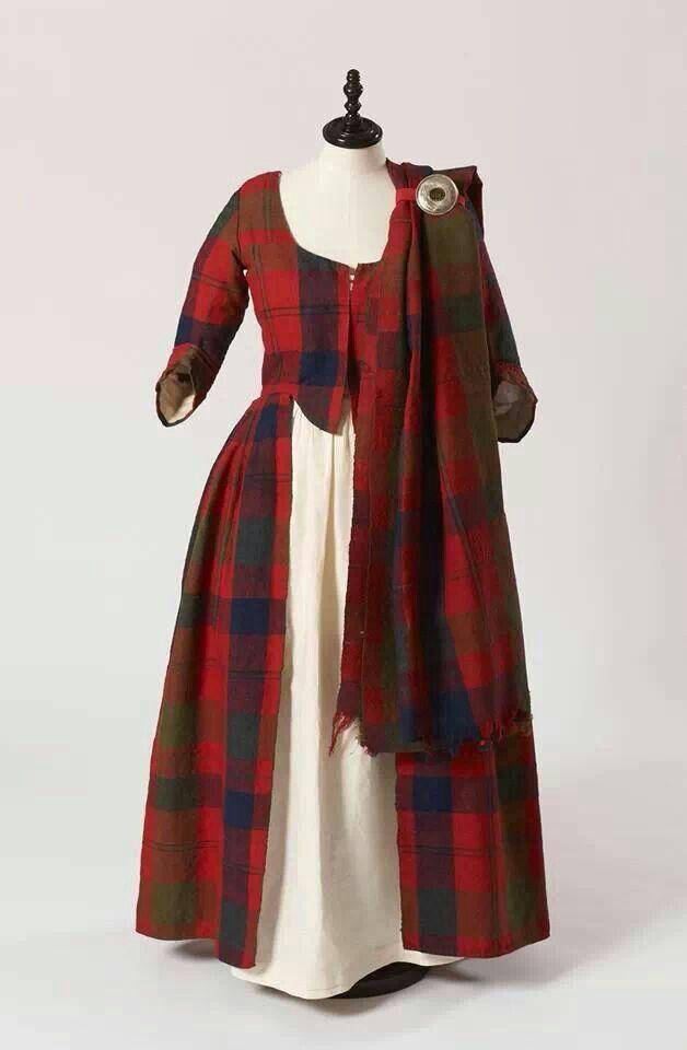 Inverness Museum, Escocia. Vestido de bodas de Isabella MacTavish ca1785.