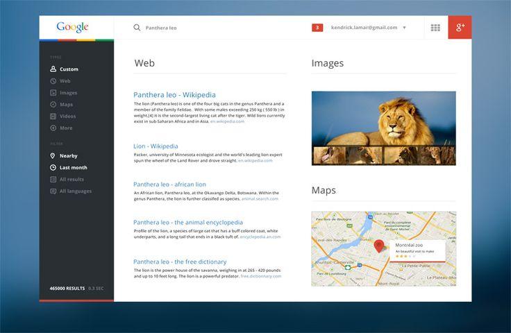 Google Redesign by Salomon Aurelien