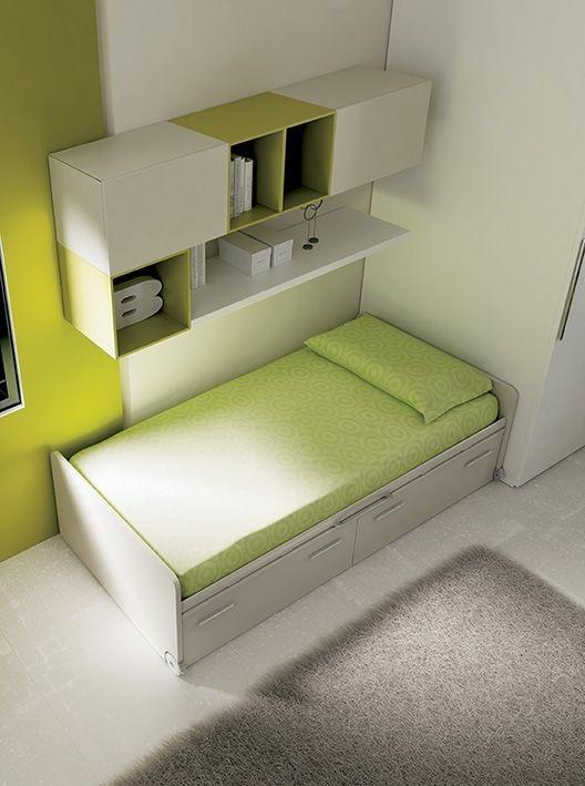 Space di moretti compact un sistema letto completo che for Piccoli piani cabina con soppalco e veranda