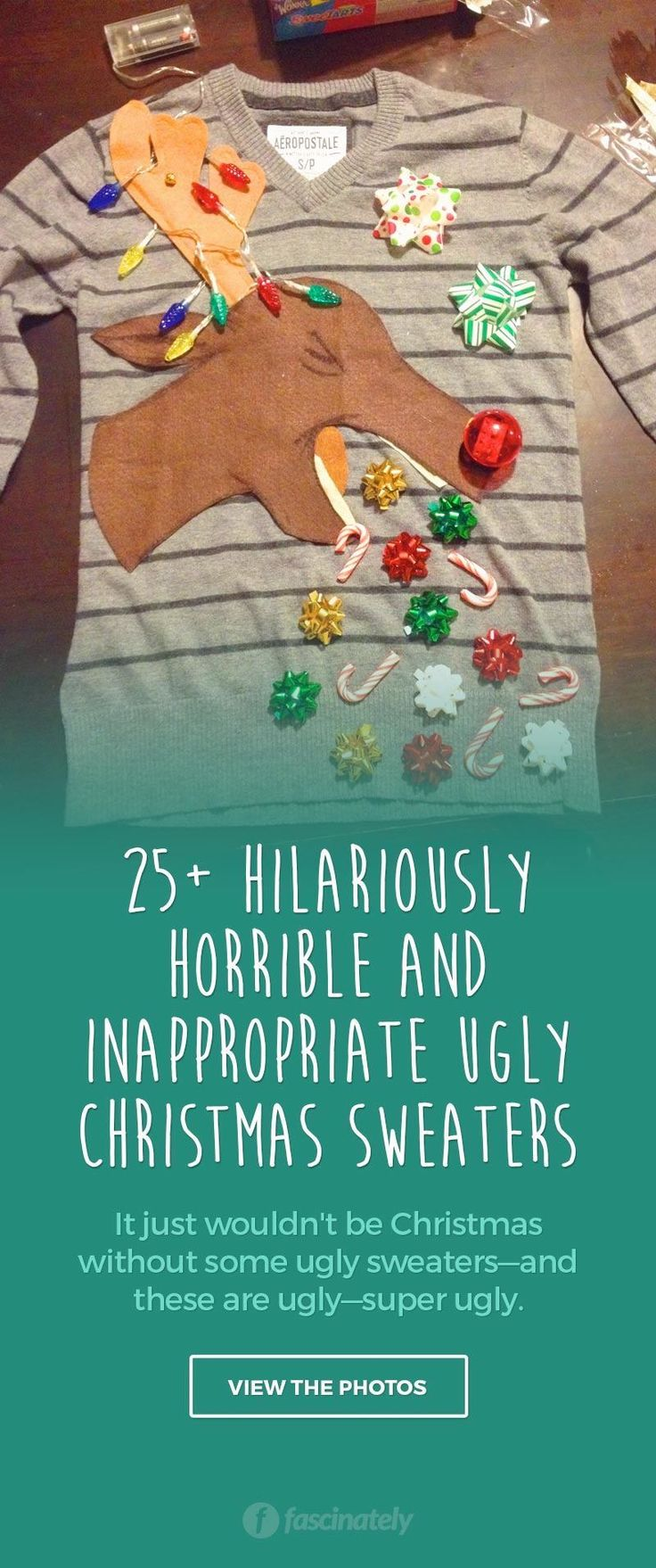 25  Hilariously Horrible and Inappropriate Ugly Christmas Sweaters