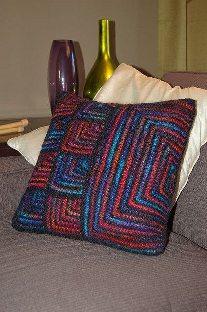 mitered square | Mitered Squares Pillow | Flickr - Photo Sharing!