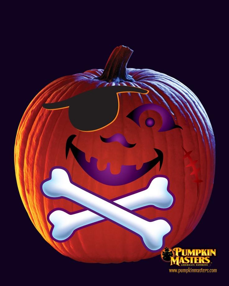 A pirate transfer pattern from the pumpkin masters kids pumpkin sticker kit