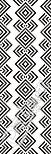 40 M2 pas-tapeta-biala-w-czarne-wzory-azteckie-etniczne-obiektowe-dekoori-pl