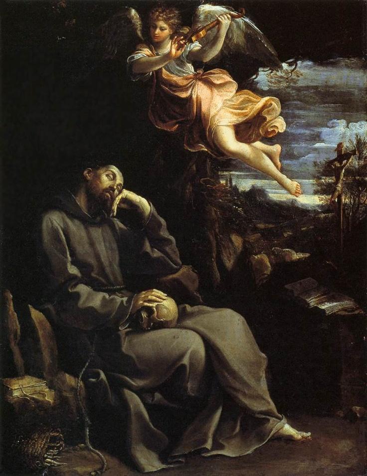 Guido Reni - San Francesco consolato dalla musica angelica (1605-1610).