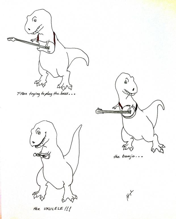 Ukulele T-Rex!!