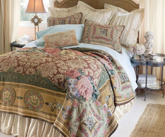 Mas La Barque Tapestry Coverlet - Inspired by #MarieAntoinette and her Petit Trianon   Soft Surroundings