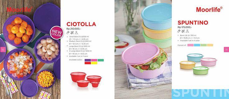 Moorlife Ciotola (215.000) & Moorlife Spuntino (175.000) Harga diatas belum termasuk discount