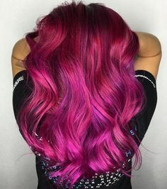 Bright Magenta Hair