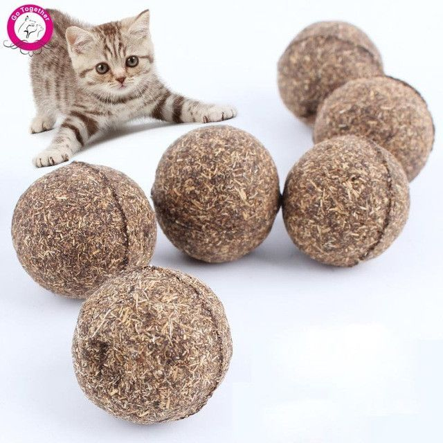 Let the fun times roll with these all natural catnip balls. Your cat will love playing with these catnip infused balls and you'll be comfortable knowing that they are made of natural catnip. Catnip ba