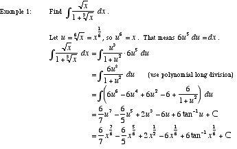 Mathwords: Rationalizing Substitutions