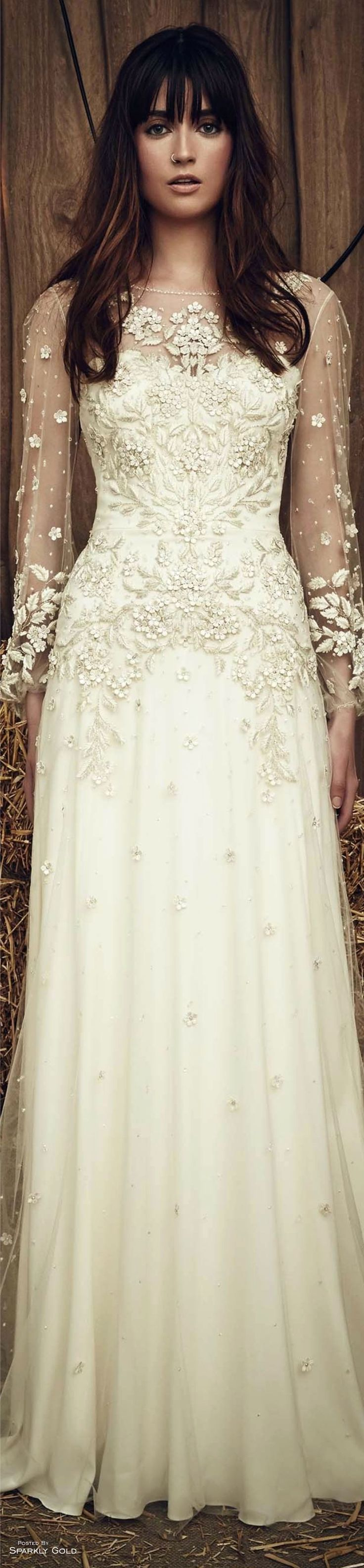 Jenny Packham Spring 2017 Bridal  - Pin curated by http://www.thedailyfashioninspiration.com/
