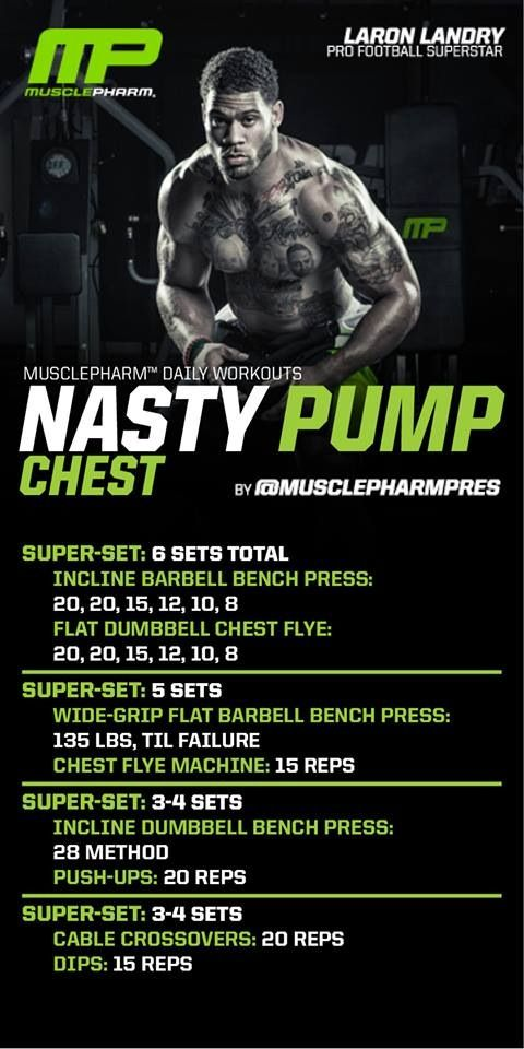 Nasty pump workout. Muscle pharm