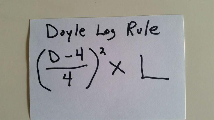 Doyle Log Rule Formula