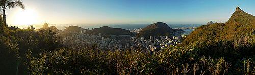 Amanhecer - Mirante Dona Marta - Pão de Açúcar - Cristo Redentor - Natureza - Rio de Janeiro - Brasil